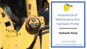 Importance of maintenance of a hydraulic pump