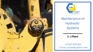 maintenance of hydraulic systems