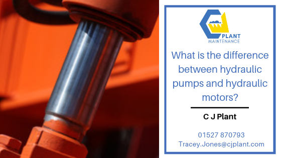 What is the difference between hydraulic pumps and hydraulic motors